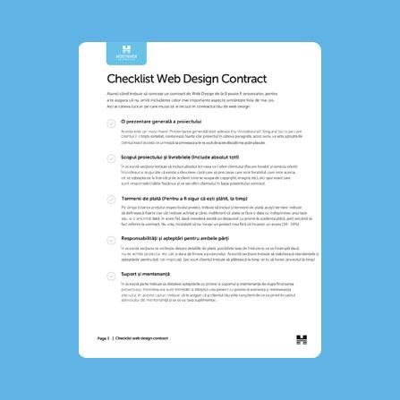 checklist contract web design